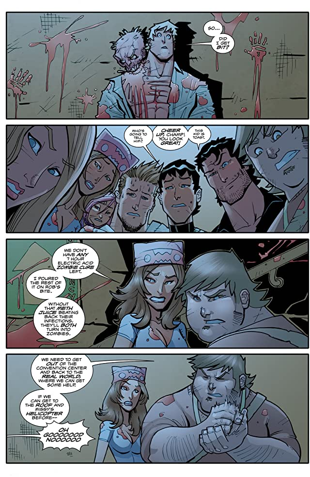 click for super-sized previews of Fanboys vs. Zombies #4