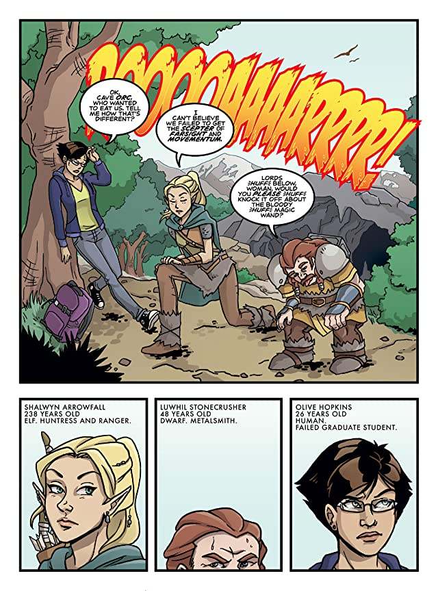 click for super-sized previews of Wander: Olive Hopkins And The Ninth Kingdom #1