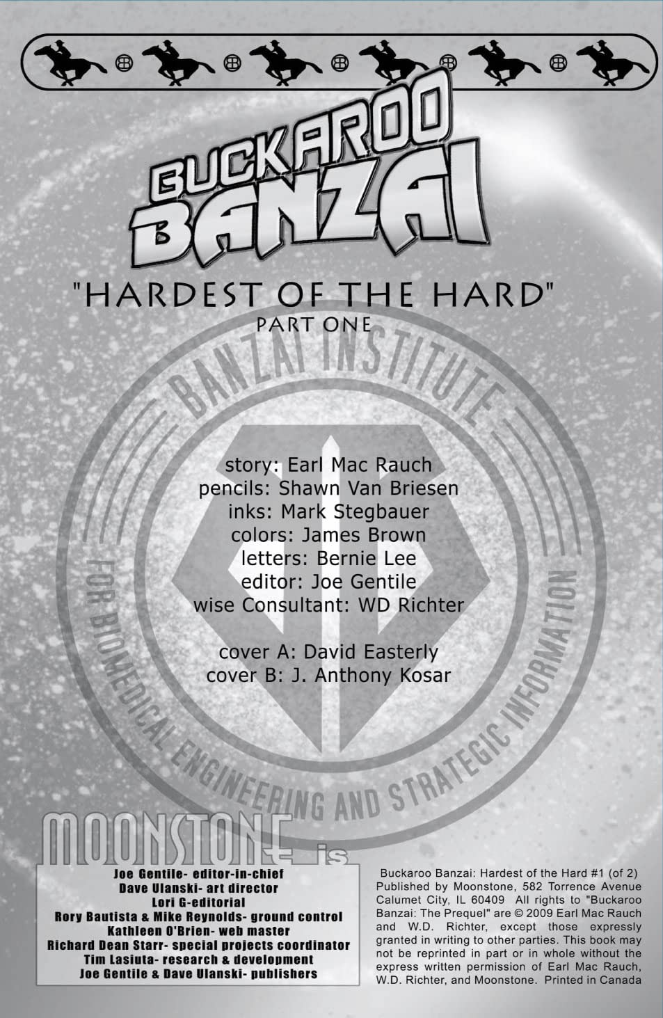 Buckaroo Banzai: Hardest of the Hard #1 (of 2)