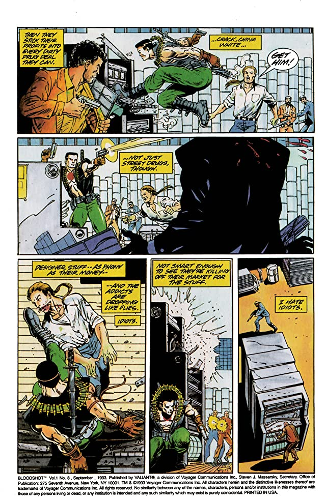 click for super-sized previews of Bloodshot (1993-1996) #8
