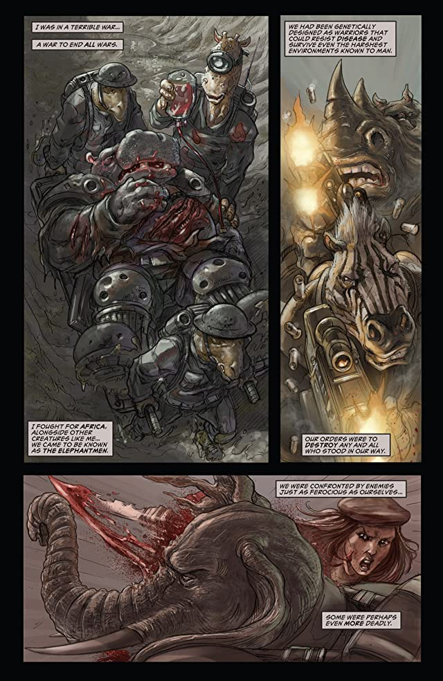click for super-sized previews of Elephantmen Vol. 5: Devilish Functions