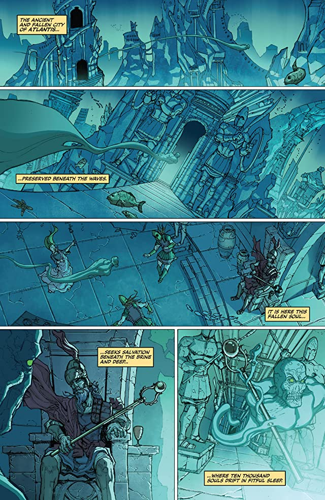 click for super-sized previews of Red Sonja: Atlantis Rises #1