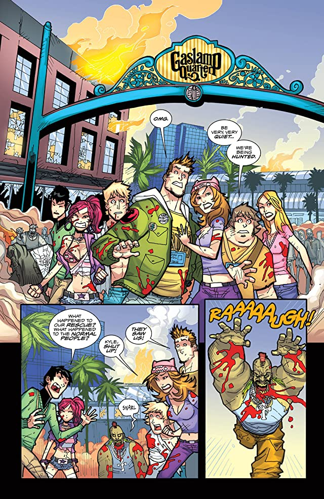 click for super-sized previews of Fanboys vs. Zombies #5