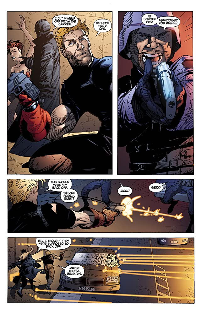 click for super-sized previews of Grifter and Midnighter #5