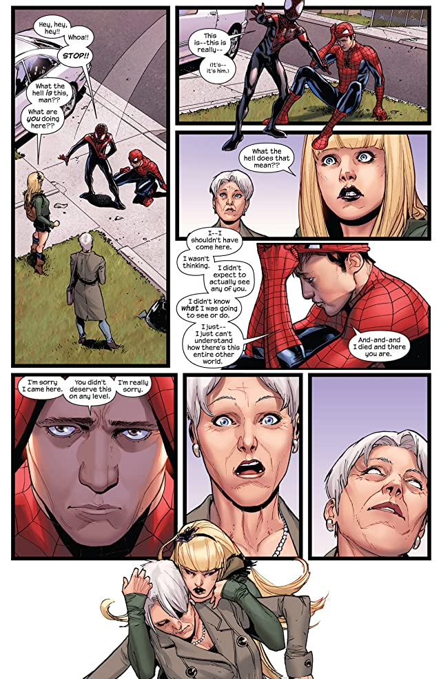 click for super-sized previews of Spider-Men #4