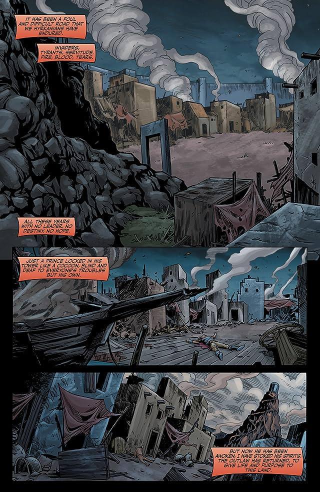 click for super-sized previews of Red Sonja Vs. Thulsa Doom #4