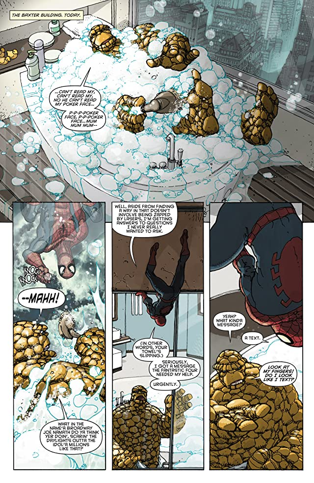 click for super-sized previews of Spider-Man/Fantastic Four #4