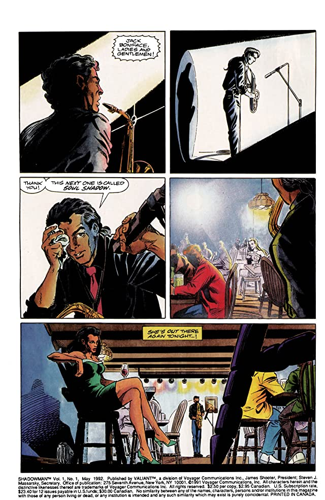 click for super-sized previews of Shadowman (1992-1995) #1