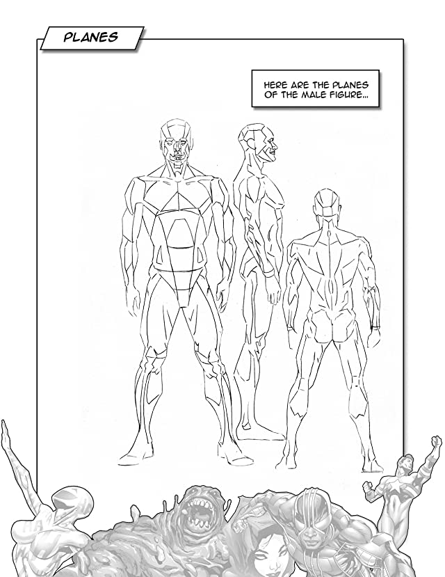 click for super-sized previews of How To Draw Superpowered Heroes