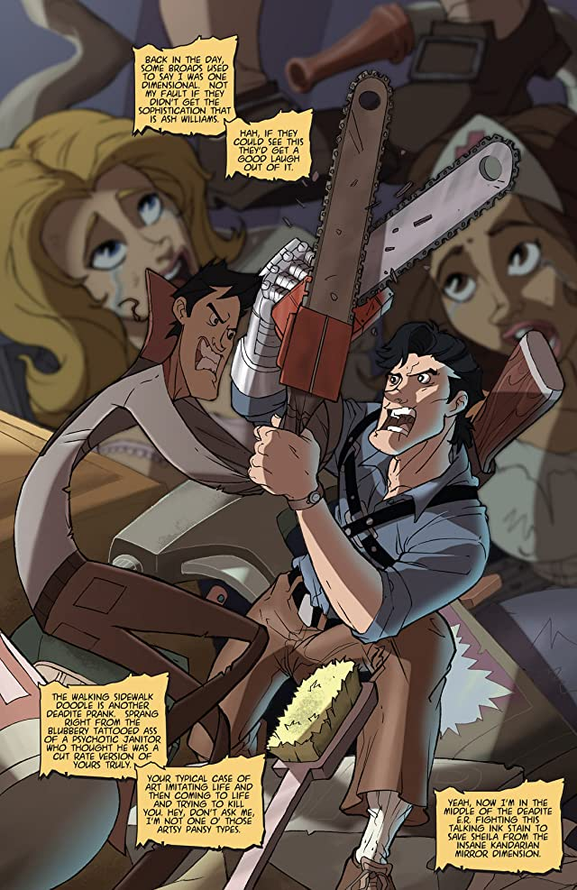 click for super-sized previews of Army of Darkness vs. ReAnimator #4