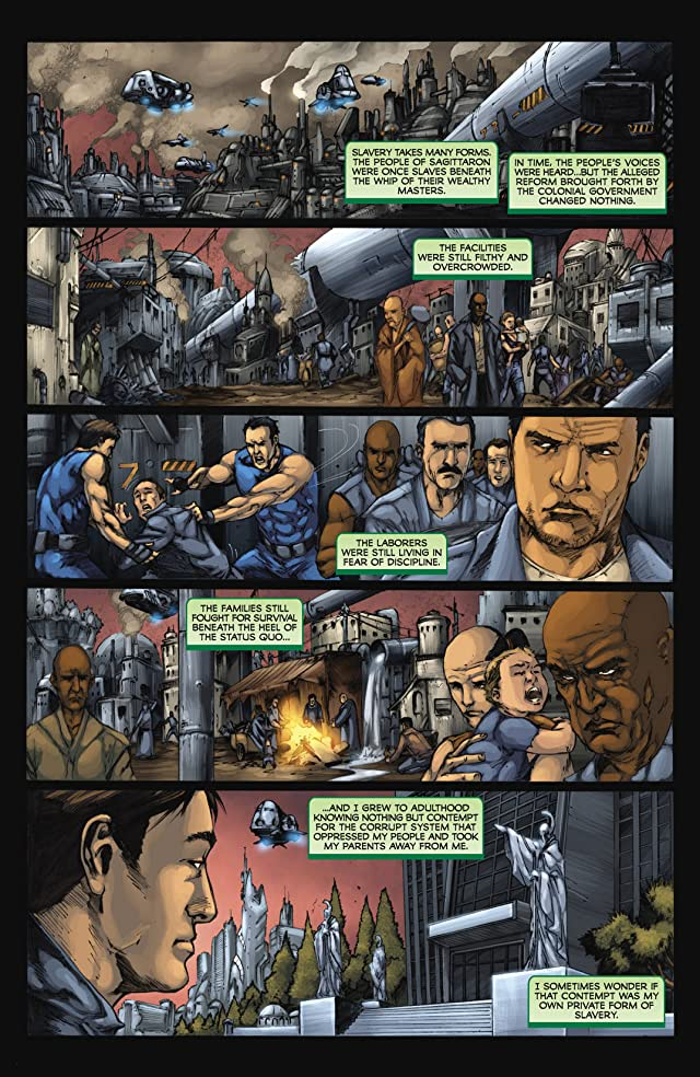 click for super-sized previews of Battlestar Galactica: Zarek #2