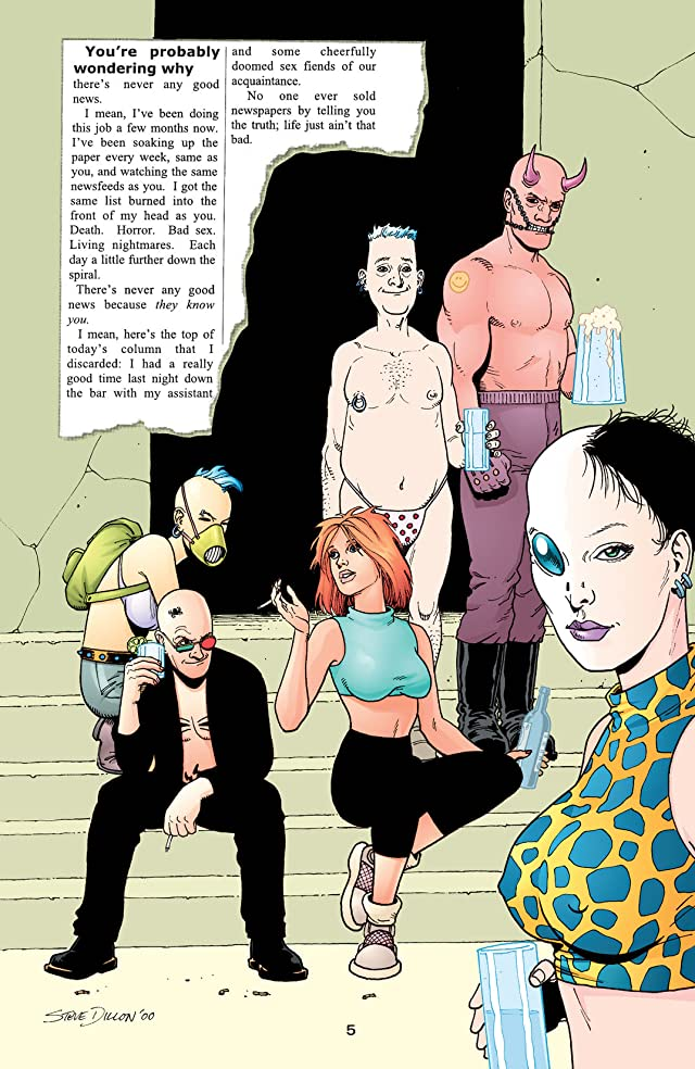 click for super-sized previews of Transmetropolitan: I Hate It Here