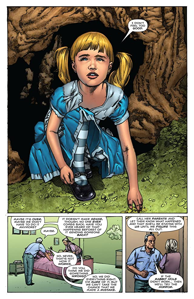click for super-sized previews of Alice In Wonderland #5