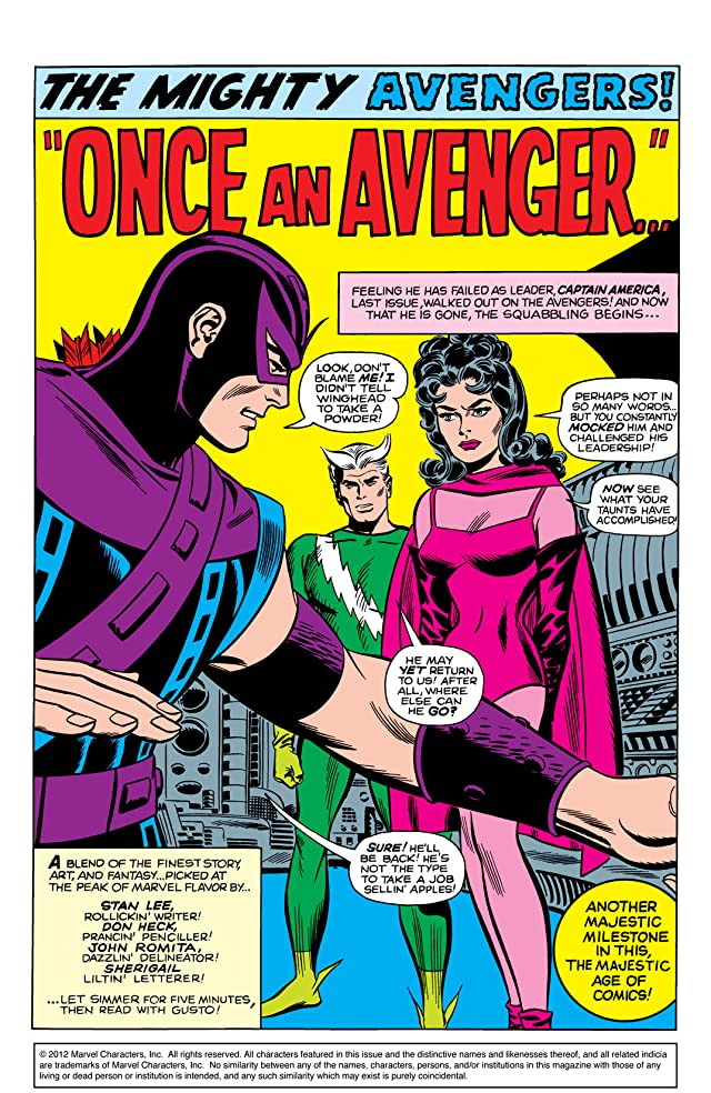 click for super-sized previews of Avengers (1963-1996) #23