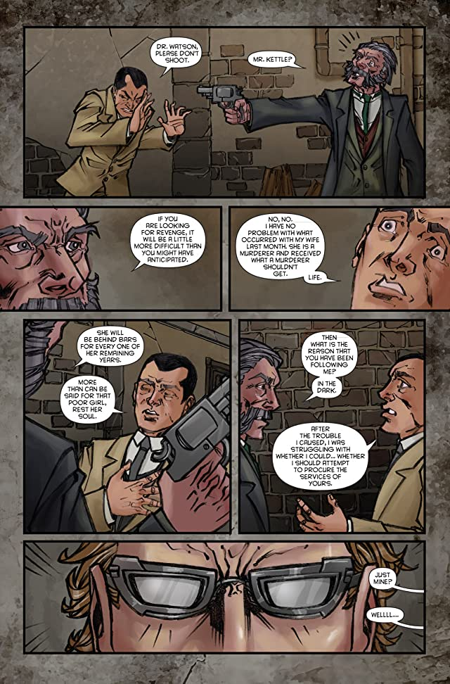 click for super-sized previews of Sherlock Holmes: Victorian Knights #3