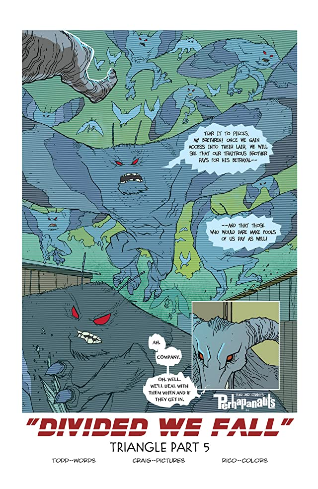 click for super-sized previews of The Perhapanauts #5