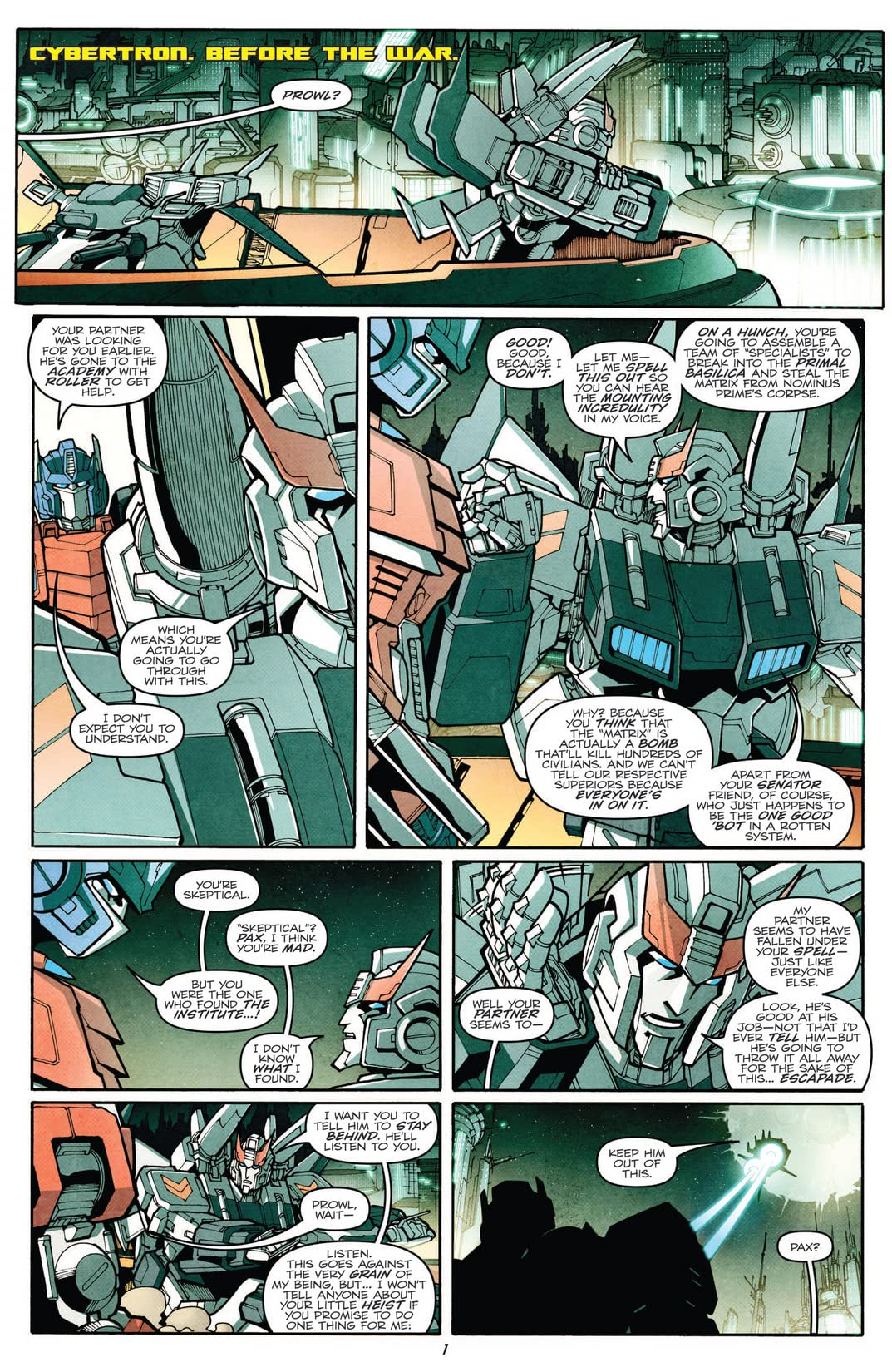 Transformers: More Than Meets the Eye (2011-) #11