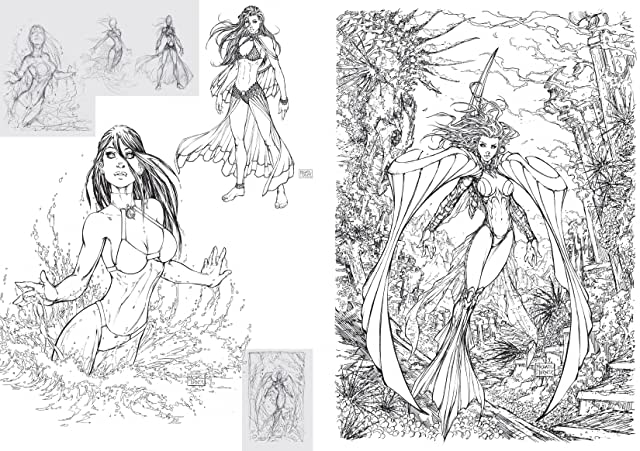click for super-sized previews of Michael Turner Sketchbook - Aspen: The Marvelous Years Vol. 3