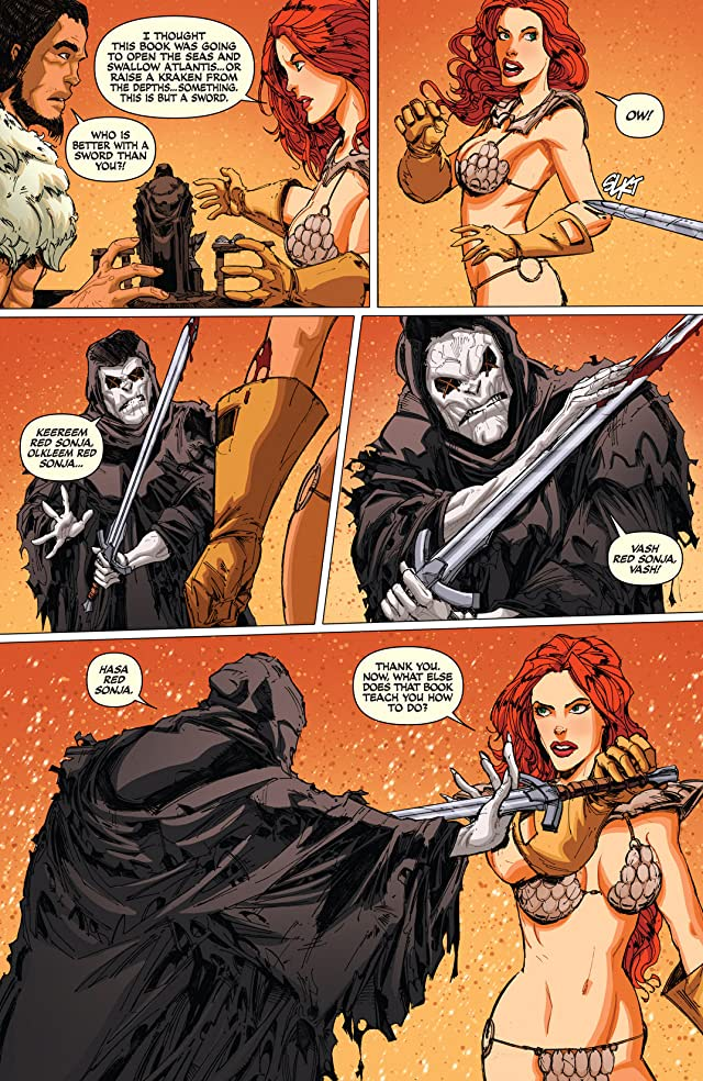 click for super-sized previews of Red Sonja: Atlantis Rises #4