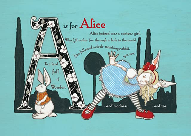 click for super-sized previews of The Wonderland Alphabet: Alice's Adventures Through the ABCs and What She Found There