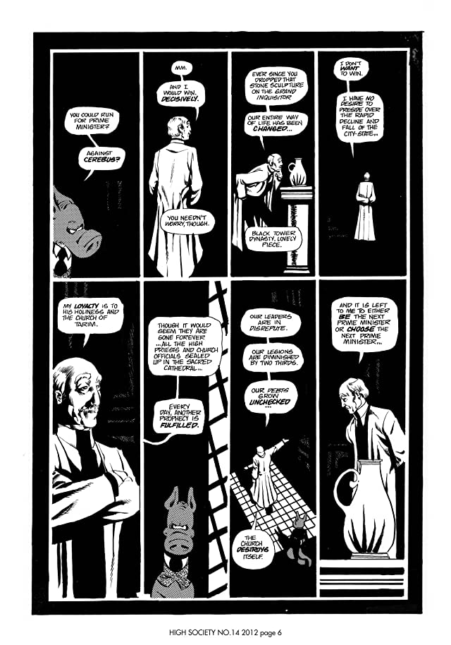 click for super-sized previews of Cerebus Vol. 2 #14: High Society