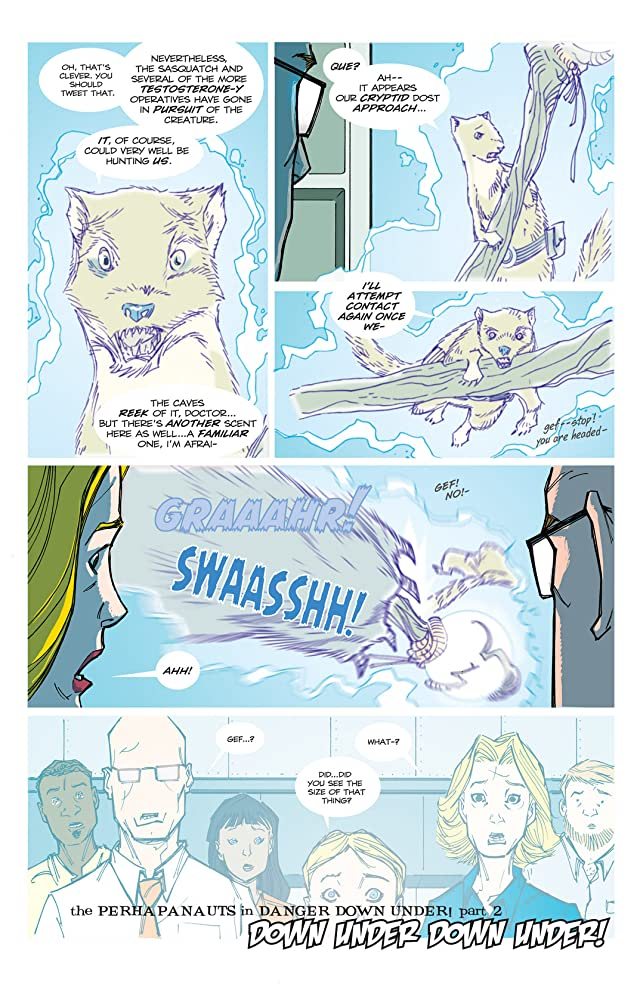 click for super-sized previews of Perhapanauts: Danger Down Under #3