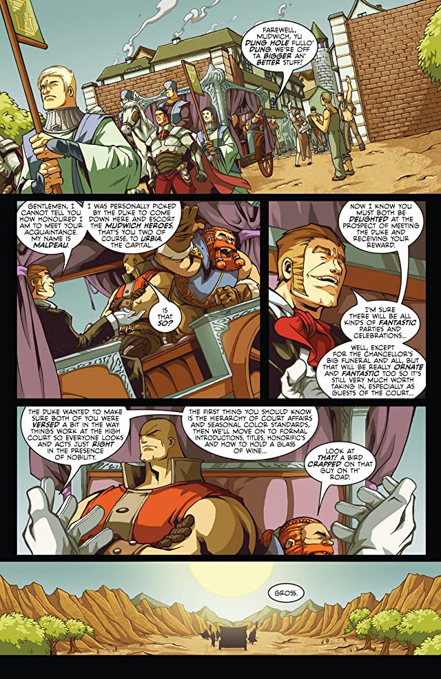click for super-sized previews of Skullkickers Vol. 2: Five Funerals & A Bucket of Blood