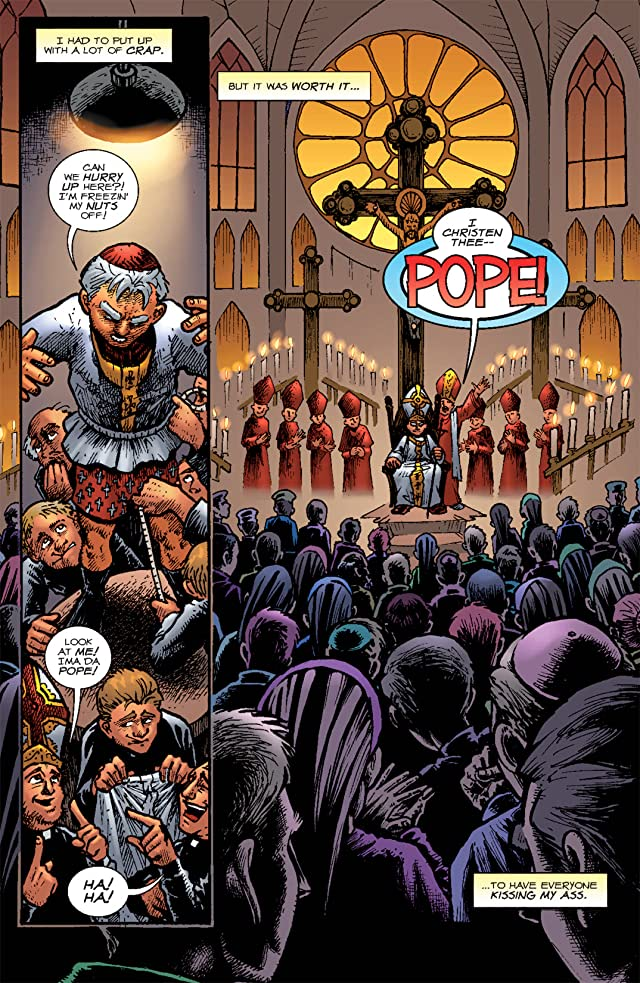 click for super-sized previews of Battle Pope #1