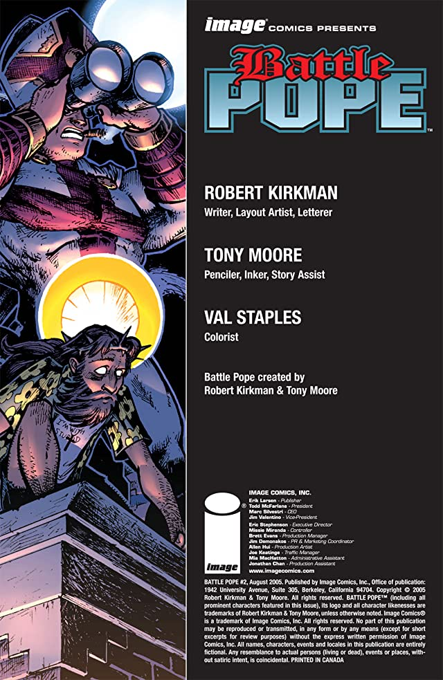click for super-sized previews of Battle Pope #2
