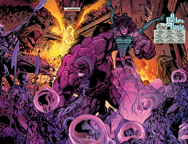 click for super-sized previews of Fantastic Four: House Of M #1