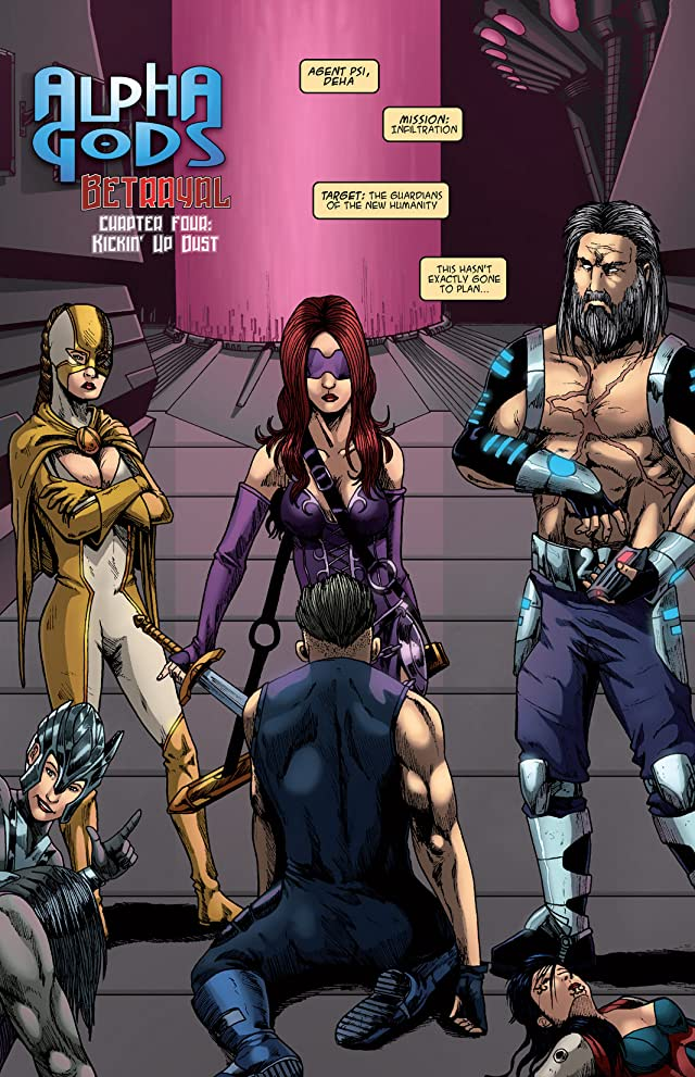 click for super-sized previews of Alphagods #4: Betrayal
