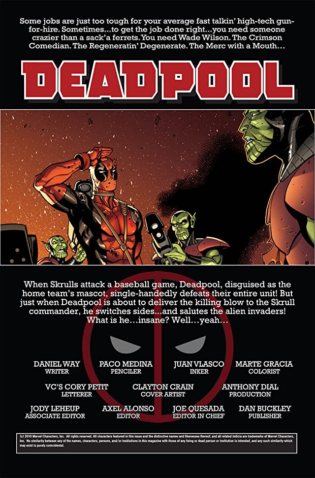 click for super-sized previews of Deadpool (2008-2012) #2