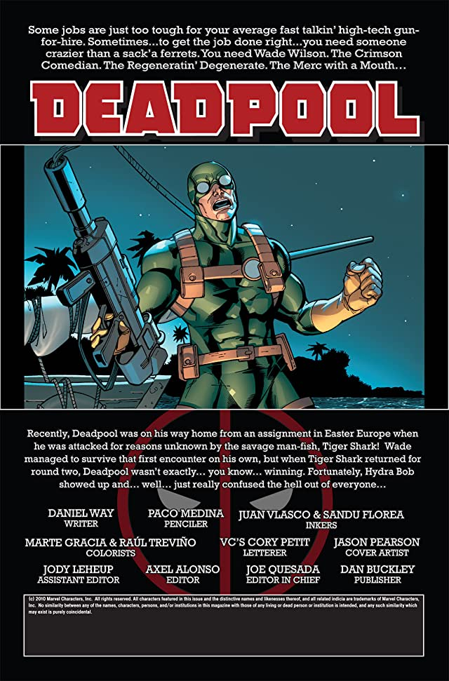 click for super-sized previews of Deadpool (2008-2012) #7
