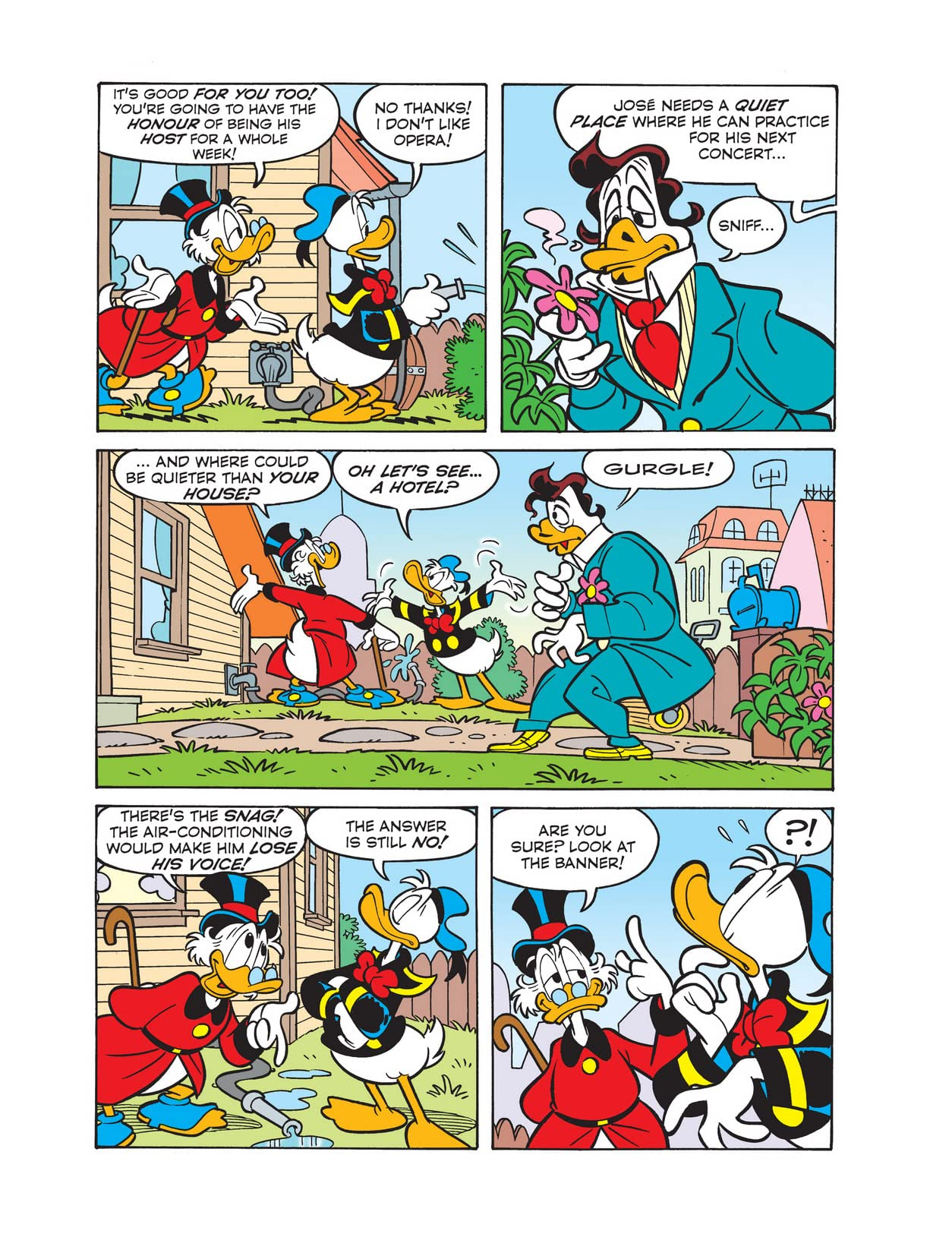 Donald Duck and the Unexpected Guest