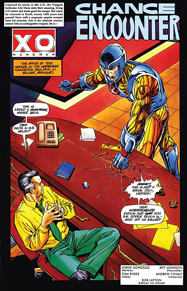 click for super-sized previews of X-O Manowar (1992-1996) #1/2