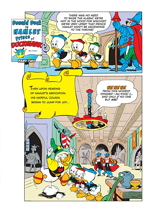 click for super-sized previews of Donald Duck in Hamlet, Prince of Duckmark #2