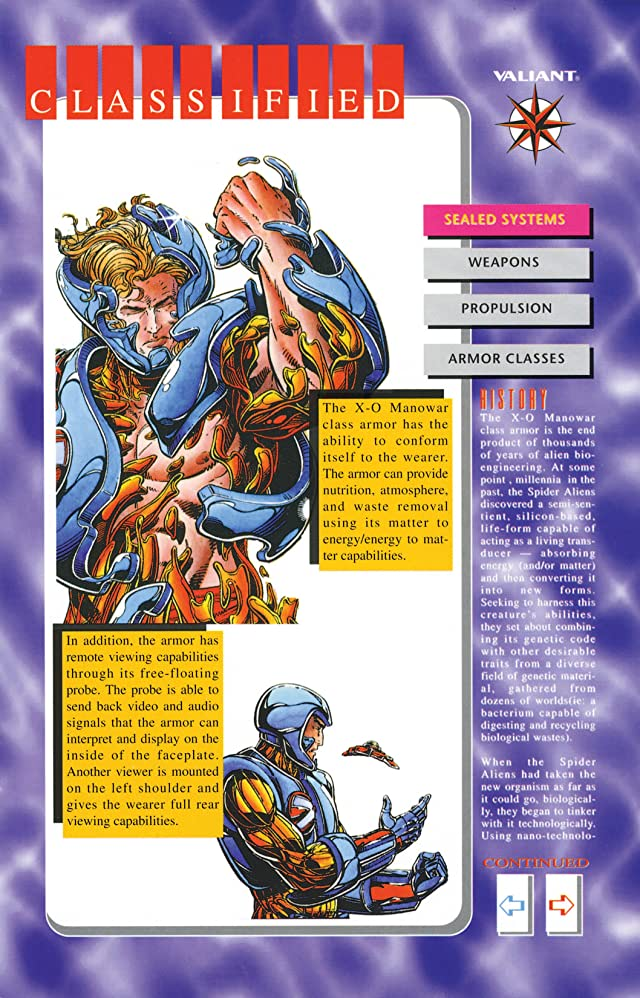X-O Manowar (1992-1996): Database #1