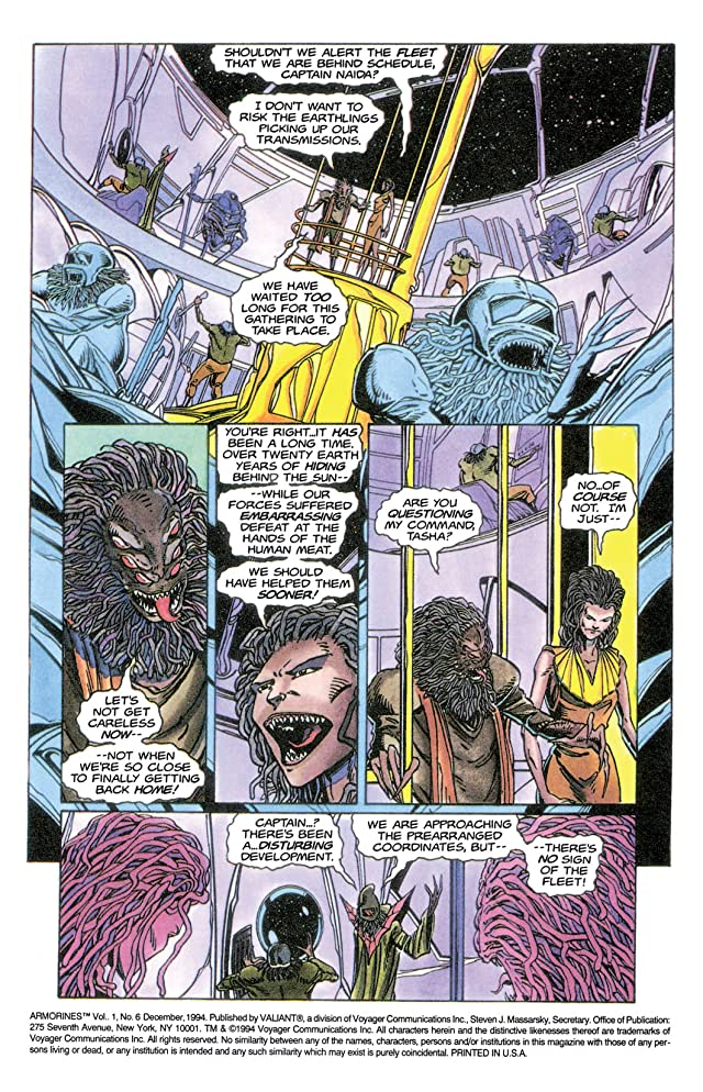 click for super-sized previews of Armorines (1994-1995) #6