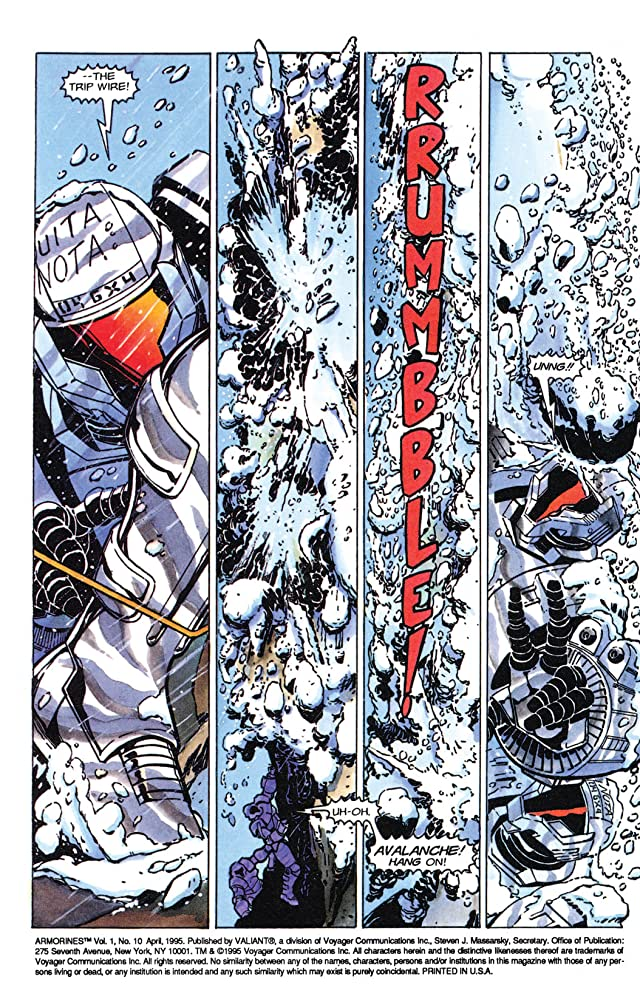 click for super-sized previews of Armorines (1994-1995) #10
