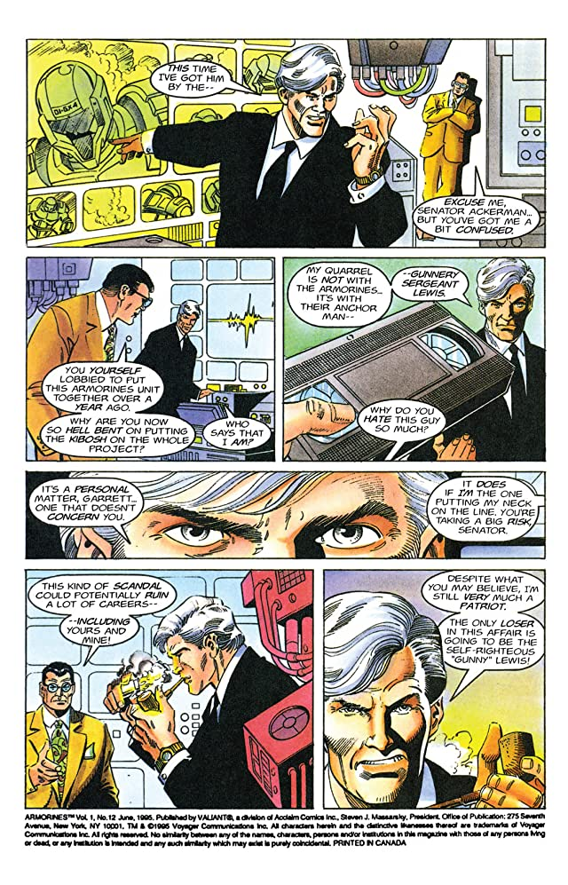 click for super-sized previews of Armorines (1994-1995) #12