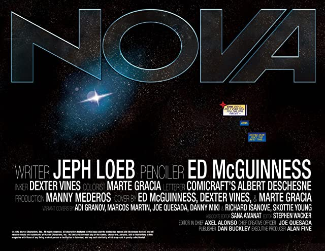 click for super-sized previews of Nova (2013-) #1