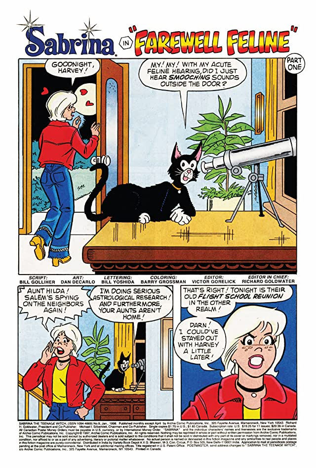 click for super-sized previews of Sabrina the Teenage Witch #9