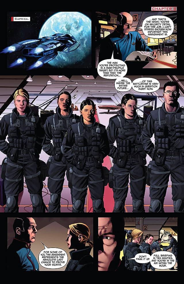 click for super-sized previews of Battlestar Galactica: Season Zero #8