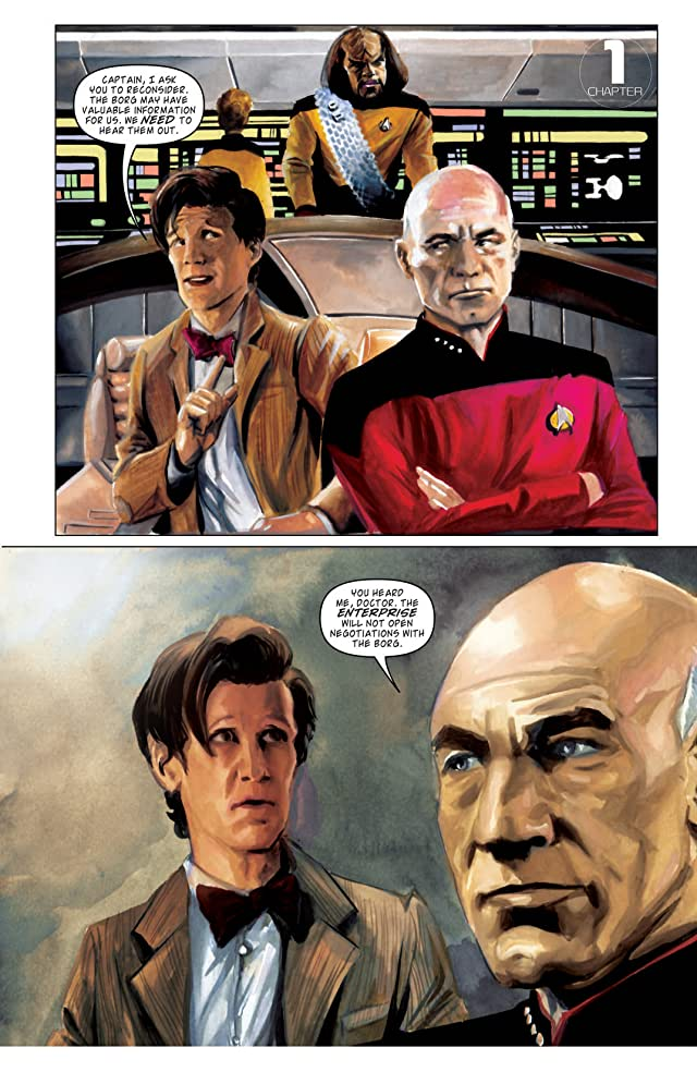 click for super-sized previews of Star Trek: The Next Generation/Doctor Who: Assimilation Vol. 2