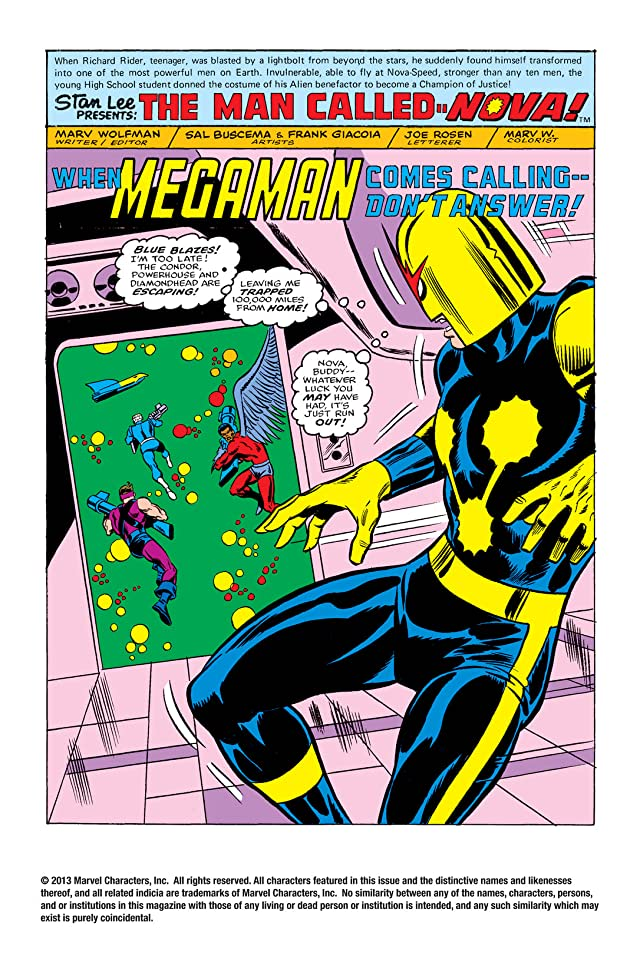 click for super-sized previews of Nova (1976-1978) #8