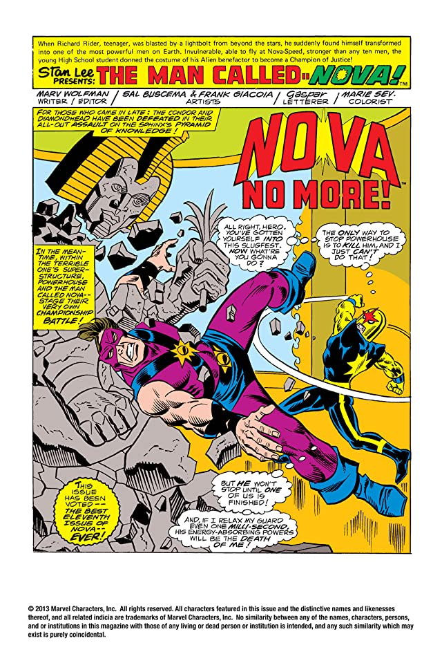 click for super-sized previews of Nova (1976-1978) #11