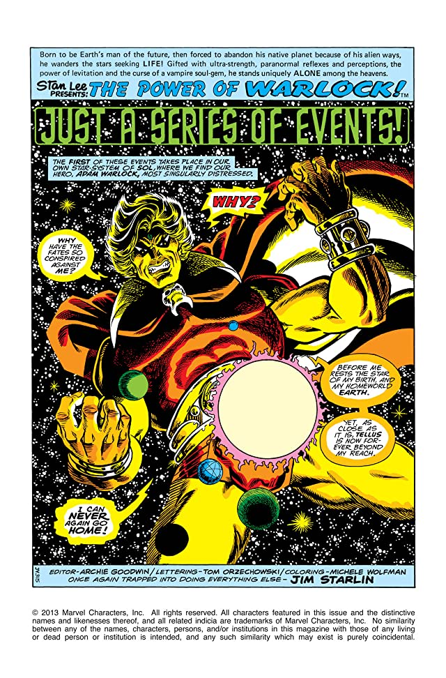 click for super-sized previews of Warlock (1972-1976) #15