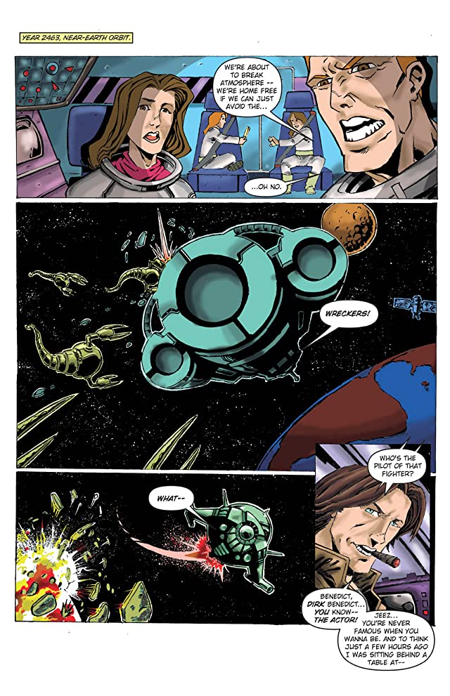 click for super-sized previews of Dirk Benedict in the 25th Century #1