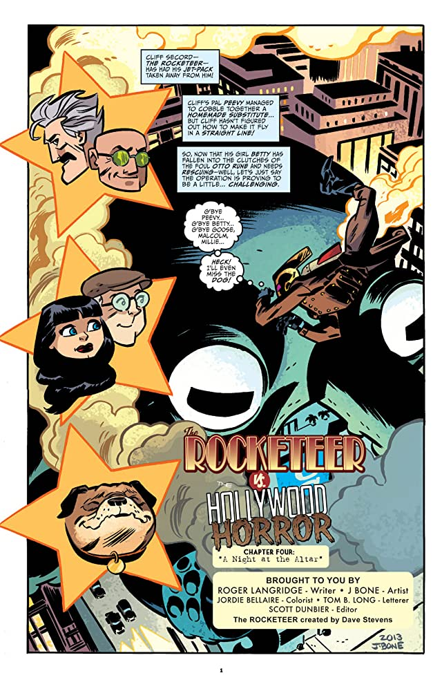 click for super-sized previews of The Rocketeer: Hollywood Horror #4