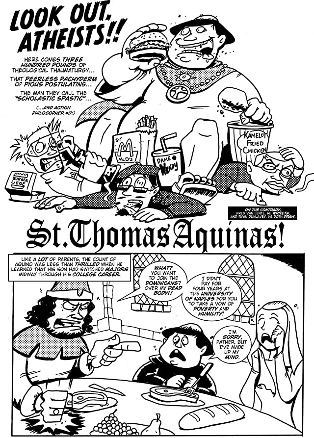 click for super-sized previews of Action Philosophers #3: St. Augustine & St. Thomas Aquinas!